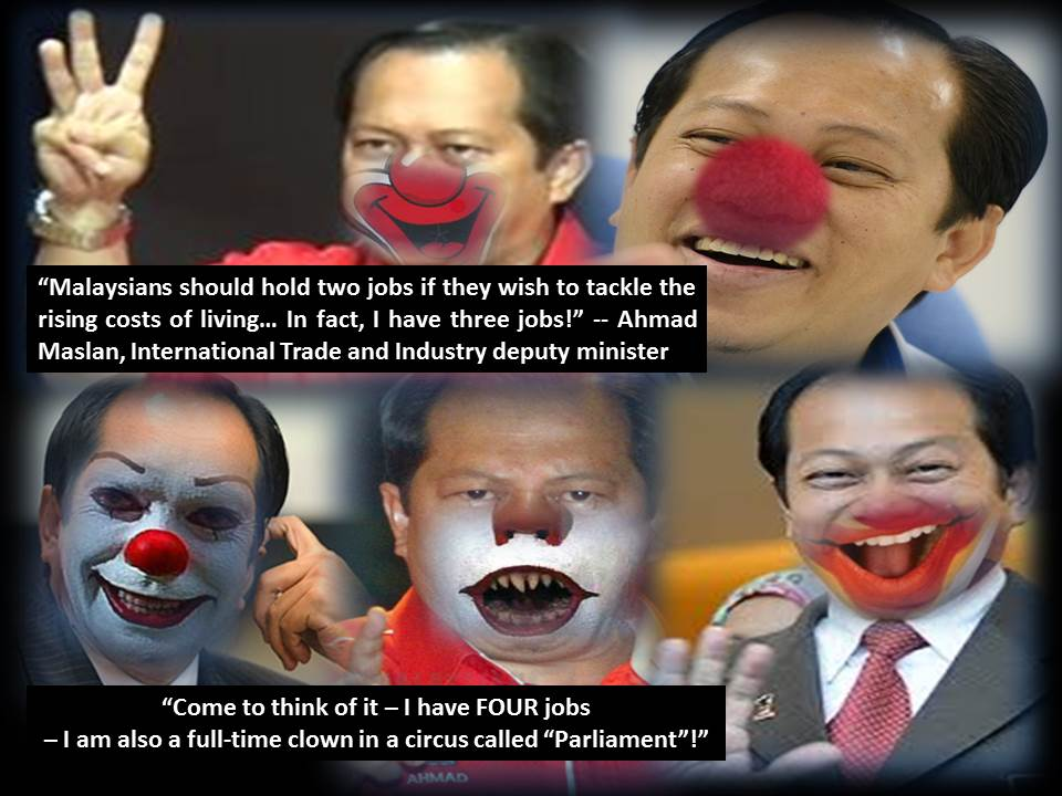 Ahmad Maslan wins Crown of Clowns 2015?