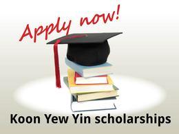 Koon Yew Yin Scholarships 2016