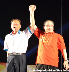 Anwar and Lim Kit Siang