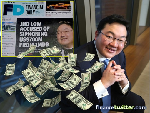 THe Edge Financial Daily - accused Jho Low siphoning US$700m