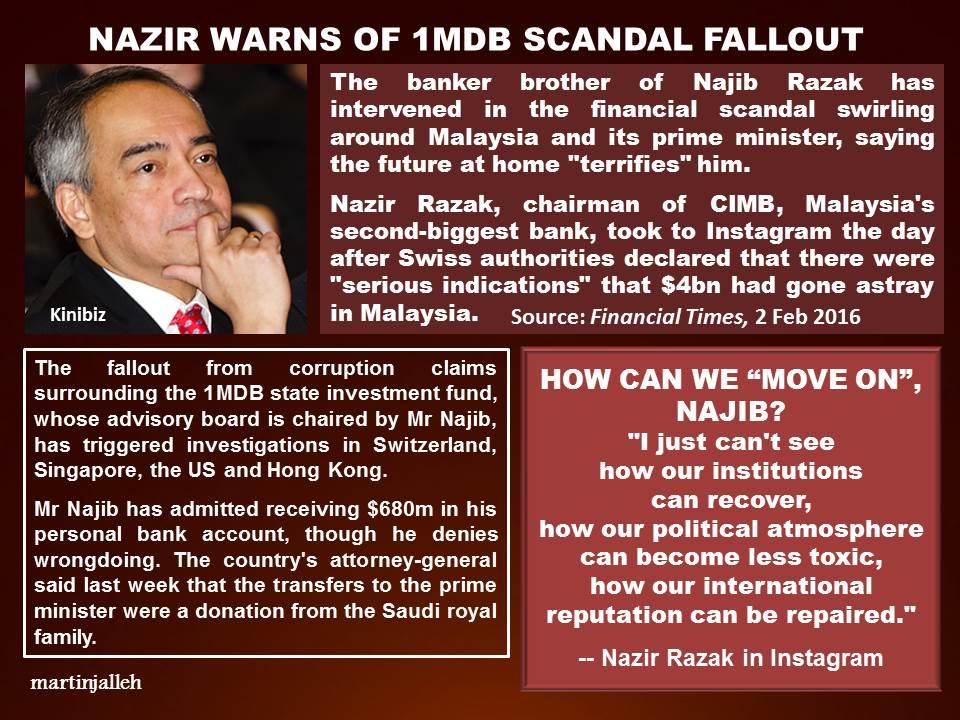 Nazir warns of 1MDB scandal fallout « Lim Kit Siang