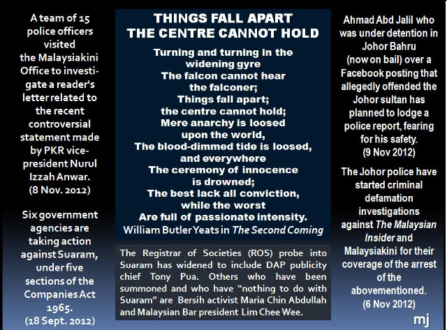 things fall apart and the second coming The book things fall apart , by chinua achebe , is very similar to the poem , the second coming by william butler yeats seeing the line things fall apart in the poem , achebe makes an outstanding association.